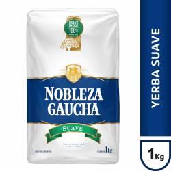 Yerba Mate c/Palo Suave Nobleza Gaucha x 1 Kg.