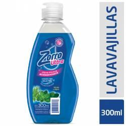 Detergente Líquido Menta y Alga Zorro x 300 cc.