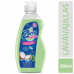Detergente Líquido Aleo y Coco Zorro x 300 cc.