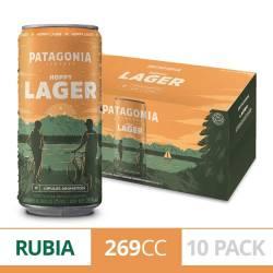 Cerveza Lata Hoppy Lager Patagonia Pack x 10 Latas de 269 cc.