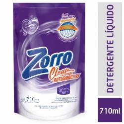 Líquido Lavar Ropa Clear Doy Pack Zorro x 710 cc.