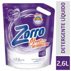 Líquido Lavar Ropa Clear Doy Pack Zorro x 2,6 Lt.