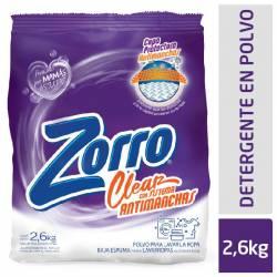 Polvo Lavar Ropa Clear Be Zorro x 2,6 Kg.