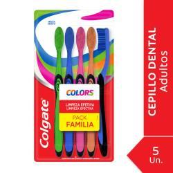 Cepillo Dental Colors Pack Familia Colgate x 5 un.