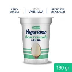 Yogur Descremado Firme Vainilla Yogurisimo x 190 g.