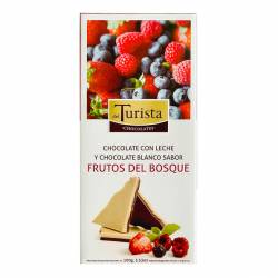 Chocolate c/Leche y Chocolate Blanco Frutos Rojos Del Turista x 100 g.