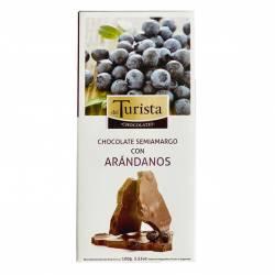 Chocolate Semiamargo con Arándanos Del Turista x 100 g.