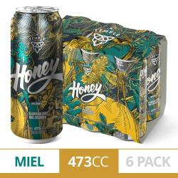 Cerveza Honey Temple Pack x 6 Latas de 473 cc.