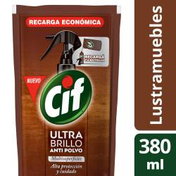 Ultra Brillo Antipolvo Multisuperficies Cif x 380 cc.