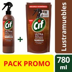 Ultra Brillo Antipolvo Spray + Doy Pack Cif x 1 un.