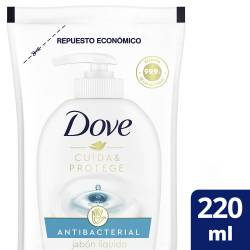 Jabón Líquido Mano Antibacterial Doy Pack Dove x 220 cc.