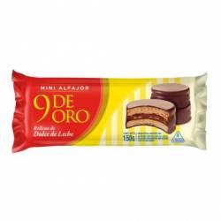 Alfajor Mini Dulce de Leche 9 de Oro x 150 g.