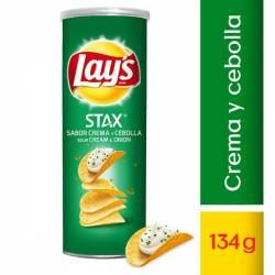 Papas Fritas Crema y Cebolla Stax Lays x 134 g.