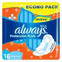 Toalla Higiénica Protección Plus Seca Reforzada Always x 16 un.