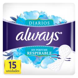 Protector Diarios s/Perfume Always x 15 un.