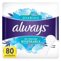 Protector Diarios s/Perfume Always x 80 un.