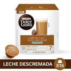 Café en Cápsulas con Leche Descremada Nescafé Dolce Gusto x 16 un.