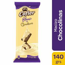 Chocolate Blanco c/Chocolinas Cofler x 140 g.