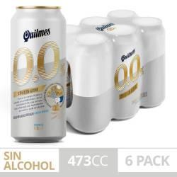 Cerveza 0% Quilmes Pack x 6 Latas de 473 cc.