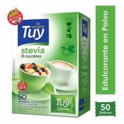Endulzante 0 Calorías Stevia Sobres Tuy x 50 un.