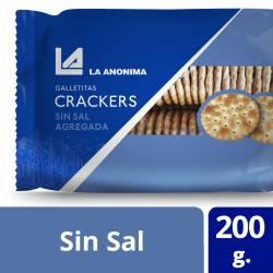 Galletitas Crackers sin Sal La Anónima x 200 g.