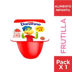 Yogur Entero Frutilla Danonino x 80 g.