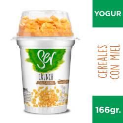 Yogur Descremado Crunch Cereales c/Miel1 Ser x 166 g.