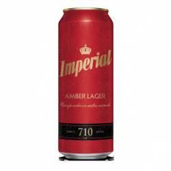Cerveza Roja Amber Lager Lata Imperial x 710 cc.