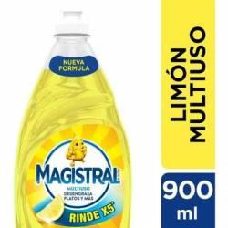Detergente Líquido Multiuso Limón Magistral x 900 cc.