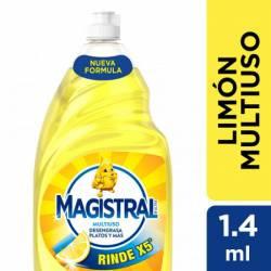 Detergente Líquido Multiuso Limón Magistral x 1,4 Lt.