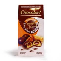 Bocadito de Dulce de Leche con Cob. Leche Chocolart x 80 g.