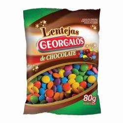 Lentejas de Chocolate Georgalos x 80 g.