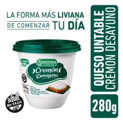 Queso Untable Light Cremón Desayuno La Serenísima x 280 g.