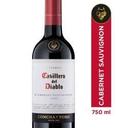 Vino Tinto Cabernet Sauvignon Casillero del Diablo x 750 cc.