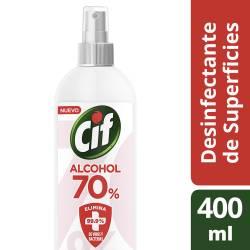 Desinfectante Superficies Alcohol 70 Cif x 400 cc.