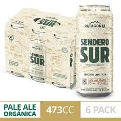Cerveza Sendero Sur Lata Patagonia Pack x 6 Latas de 473 cc.