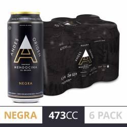 Cerveza Negra Lata Andes Origen Pack x 6 Latas de 473 cc.