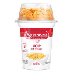 Yogur La Serenísima Clásico entero c/ cereales x 159 g.