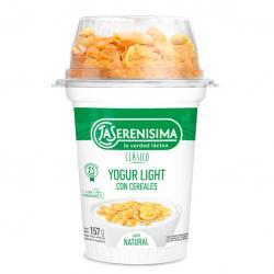 Yogur La Serenísima Clásico descremado c/ cereales x 157 g.
