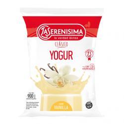 Yogur La Serenísima Clásico sachet entero x 900 g.
