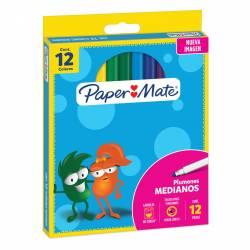 Marcador Escolar Sylvapen Paper Mate x 12 un.