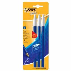 Bolígrafo Opaco Dura + Azul Bic x 3 un.