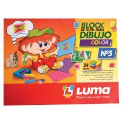 Block Dibujo N5 Color Luma x 24 un.