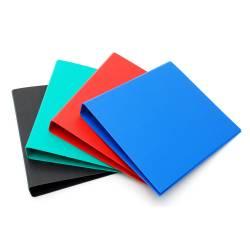 Carpeta A4 Plástica Forrada varios Colores Útil Of x 1 un.