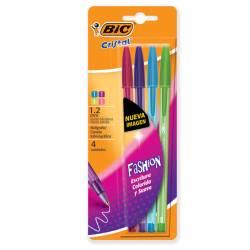 Bolígrafo Fashion Surtido 1.2 Bic x 4 un.