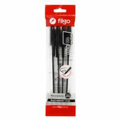 Bolígrafo Stick 026 Negro Filgo x 4 un.