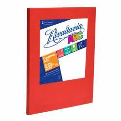 Cuaderno Abc Ray Rojo 50 Hojas 19x23,5 Rivadavia x 1 un.