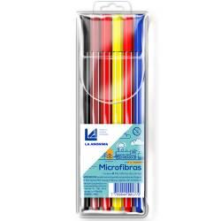 Microfibras Colores La Anónima x 6 un.