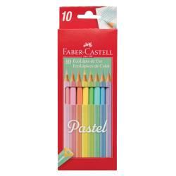 Lápices De Colores Pastel Faber Castell x 10 un.