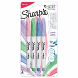 Resaltador / Marcador Note Pastel Sharpie x 4 un.